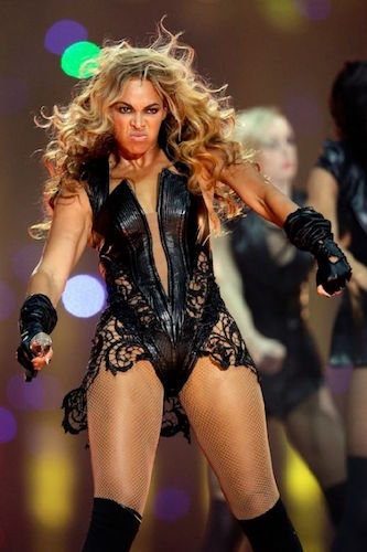 Beyonce Knowles Superbowl Face