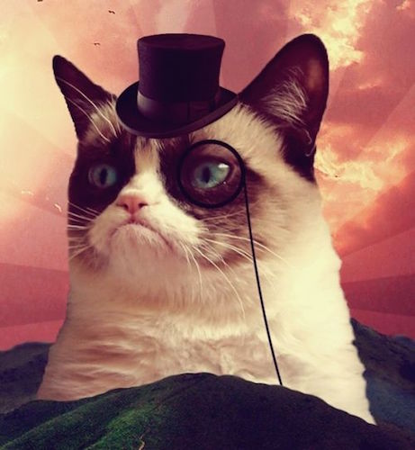 Grumpy Cat Top Hat